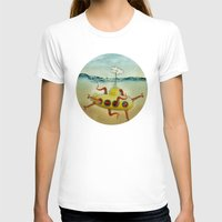 yellow submarine T-shirts featuring yellow submarine in an octapuses garden by Vin Zzep