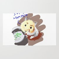 hamster Area & Throw Rugs featuring Hamster by wingnang