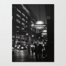 white heat Canvas Print