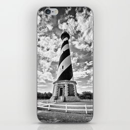 B&W - Cape Hatteras Lighthouse, Outer Banks NC iPhone Skin