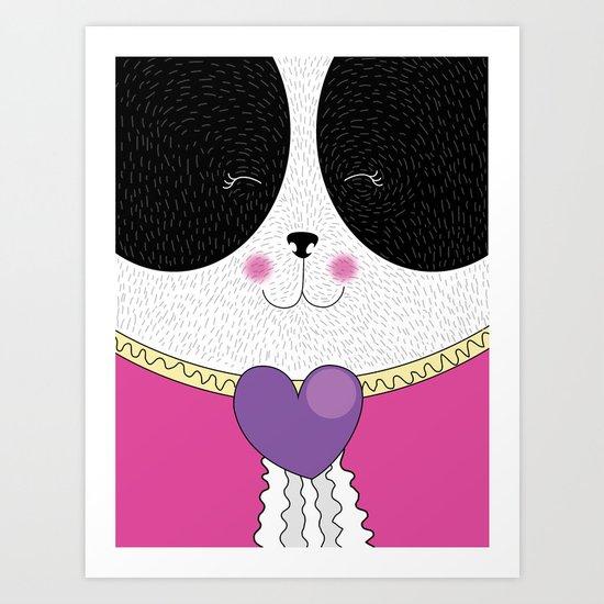 Lovely Panda Girlfriend! - cute, funny, sweet, panda bear! Art Print