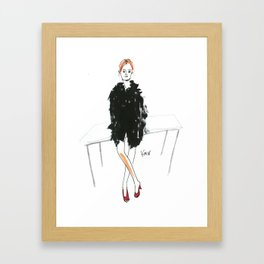 Stella - Cool Downtown Girl in Marker and Gouache Framed Art Print
