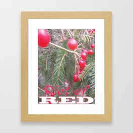 Riot of RED Framed Art Print