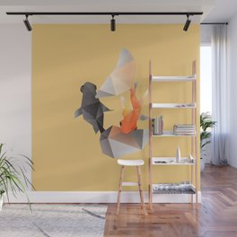 Butterfly Tail Goldfish. Wall Mural