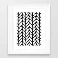 knitting Framed Art Prints featuring Knitting by LinneaHjelm.com