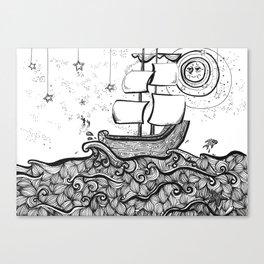 The Never Sea Canvas Print