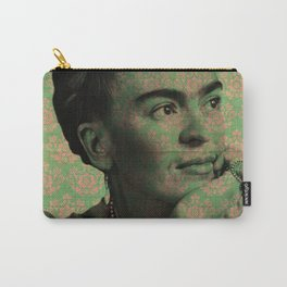 Green Frida Kahlo Carry-All Pouch