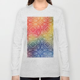 Colorful Lace Long Sleeve T-shirt