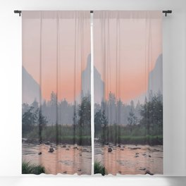 Yosemite Valley Sunrise Pretty Pink Blackout Curtain