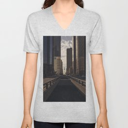 Downtown Los Angeles Cityscape Unisex V-Neck