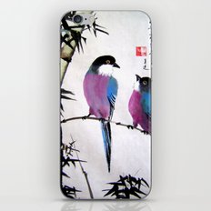 blue bird iPhone & iPod Skin