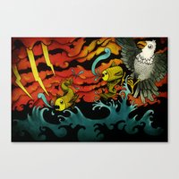 sushi Canvas Prints featuring Sushi by Juan Weiss
