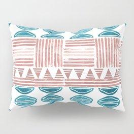 Blush and Blue Pillow Sham