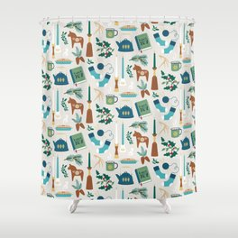 A Very Hygge Holiday Shower Curtain