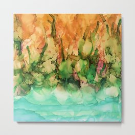 Tropical Riverside Metal Print