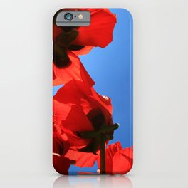 Poppies in the sky iPhone Case