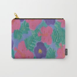 Dreamy Hibiscus Nights Carry-All Pouch