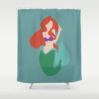 ariel Shower Curtains featuring Ariel by Polvo
