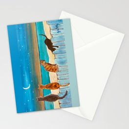 Cats on a Fence Stationery Cards