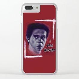 Eddie Kaspbrak Clear iPhone Case