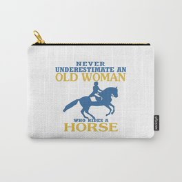 Old Woman Rides Horse Carry-All Pouch