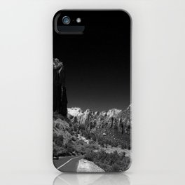 Zion Park View in B&W iPhone Case