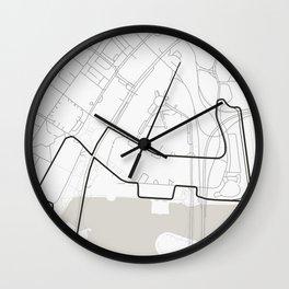 Marina Bay Street Circuit, Singapore Wall Clock