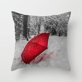 Just a Dusting of snow Throw Pillow