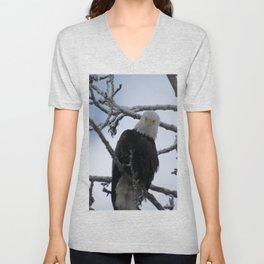 Bald Eagle at 12 Below -- Soldotna, Alaska Unisex V-Neck