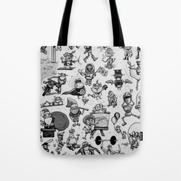 It's a Robot World B&W Tote Bag