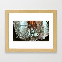 Zombie Catocalypse Framed Art Print