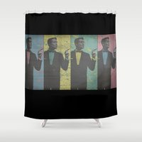 cocktail Shower Curtains featuring Cocktail Hour by Last Call