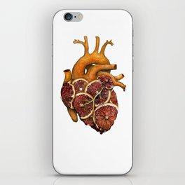 Blood Orange Heart iPhone Skin