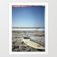 surfboard Art Prints featuring Surfboard by NoGoPhoto