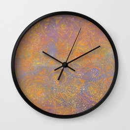 Gelatin Monoprint 23 Wall Clock