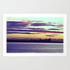 Distant Seattle  Art Print