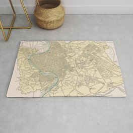 Vintage Map of Rome Italy (1901) Rug