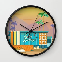 Palm Springs Apartment Wall Clock