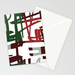 Modern Christmas Pattern Print Stationery Cards