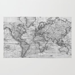 World map rugs society6 black and white world map 1801 rug gumiabroncs Images