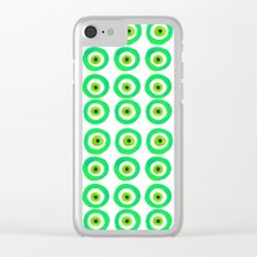 Evil Eye Talisman in Green Clear iPhone Case