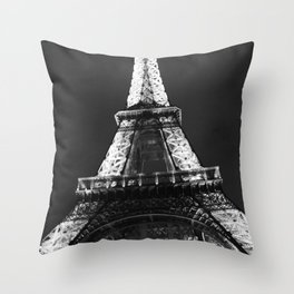 retro eiffel tower  Throw Pillow