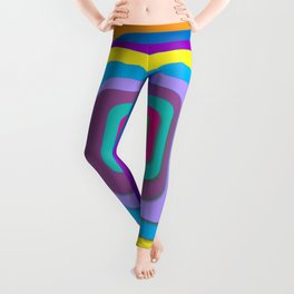 Colorful Layered Squares, Psychadelic Artwork, Pretty Colorful Art Leggings