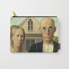 American Gothic by Grant Wood Carry-All Pouch