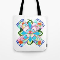 blossom Tote Bags featuring Blossom by Heaven7