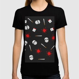 Friday the 13th pattern T-shirt