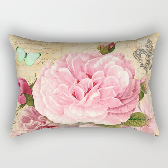 Vintage Flowers #25 Rectangular Pillow