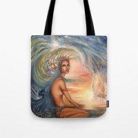 siren Tote Bags featuring Siren by Erica Wexler