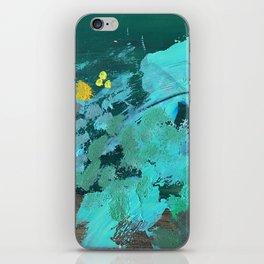 golden wattle oil painting iPhone Skin