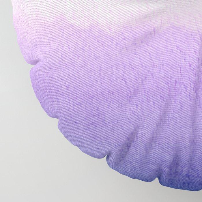 Purple Watercolor Design Floor Pillow